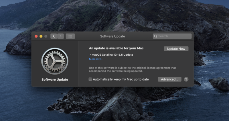 The new update is available via System Preferences on supported Macs.