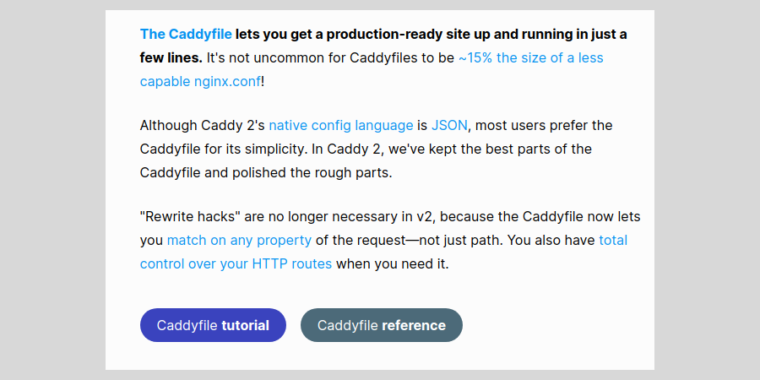 Caddy offers TLS, HTTPS, and more in one dependency-free Go Web server