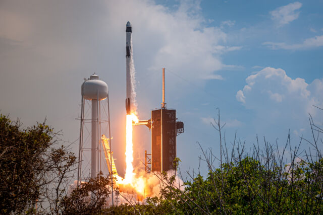 Falcon 9 lifts off on its most important mission to date: carrying NASA Astronauts Bob Behnken and Doug Hurley into orbit.