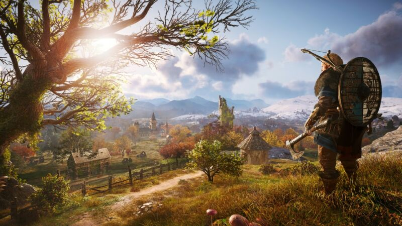 This <em>Assassin's Creed Valhalla</em> screenshot is running at one frame per all of time (or 1 fpat).