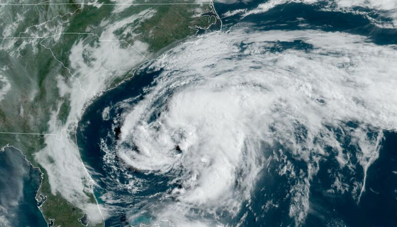 Tropical Storm Arthur formed late Saturday night.