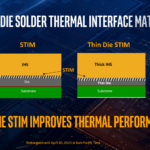 Thinning the die allows for the use of a thicker integrated heat spreader, therefore potentially better cooling for the hottest parts of the die.