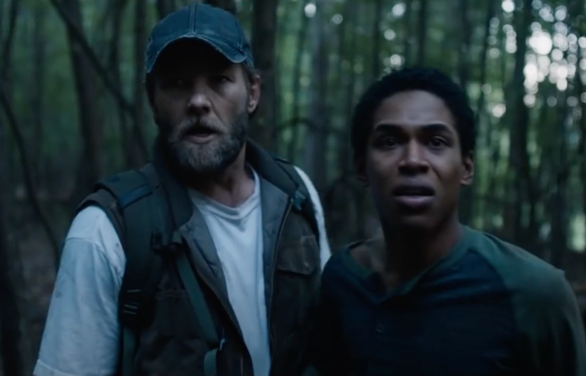 As a contagious outbreak ravages the world, a small group of survivors seclude themselves deep in the woods in <em>It Comes at Night</em> (2017).