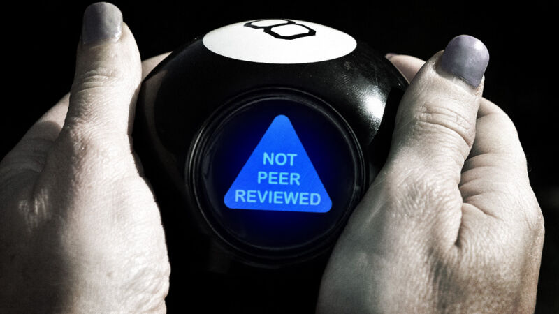 A novelty Magic 8 Ball brings up the words