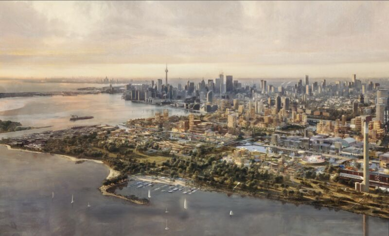 Sidewalk Labs concept for the scuppered lakefront development in Toronto.
