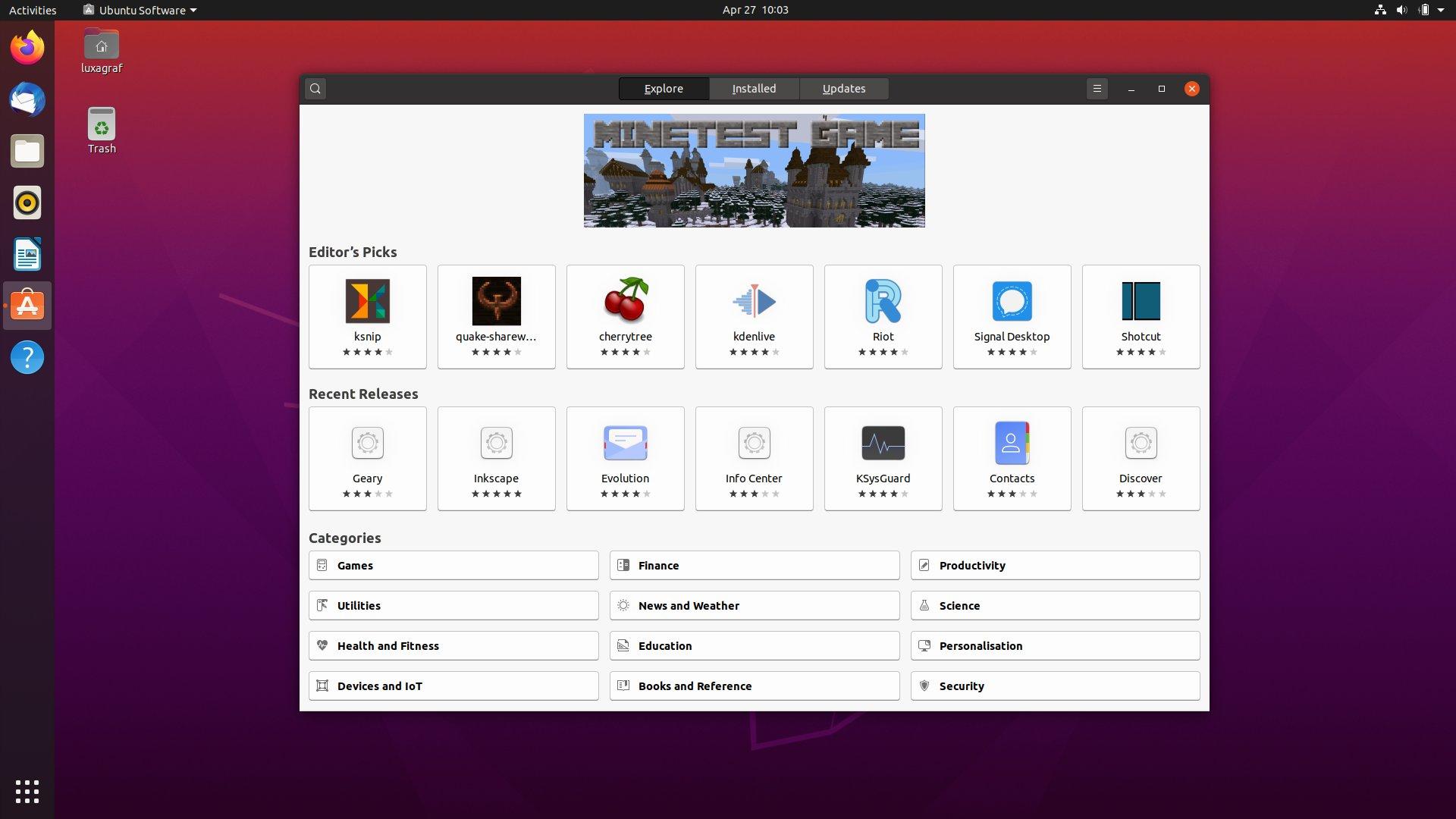 Ubuntu Software received a slight makeover in 20.04.