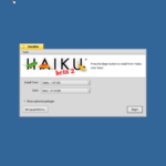 """Success! We can now click """"Begin""""—from here, we're literally only a minute or so away from a fully installed Haiku system."""