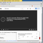 YouTube doesn't like Otter any more than it liked WebPositive—but at least neither the app nor the OS itself crashed this time.
