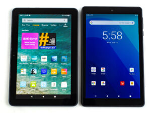Amazon Fire HD 8 Plus and Walmart Onn 8 Tablet Pro product image