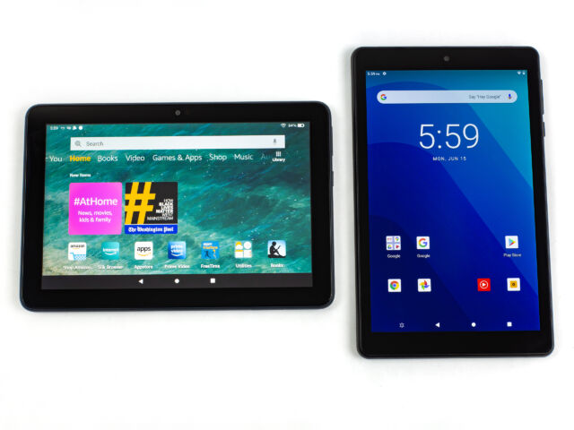 The 100 Tablet Shootout Amazon Fire 8 Hd Plus Vs Walmart Onn 8 Tablet Pro Ars Technica