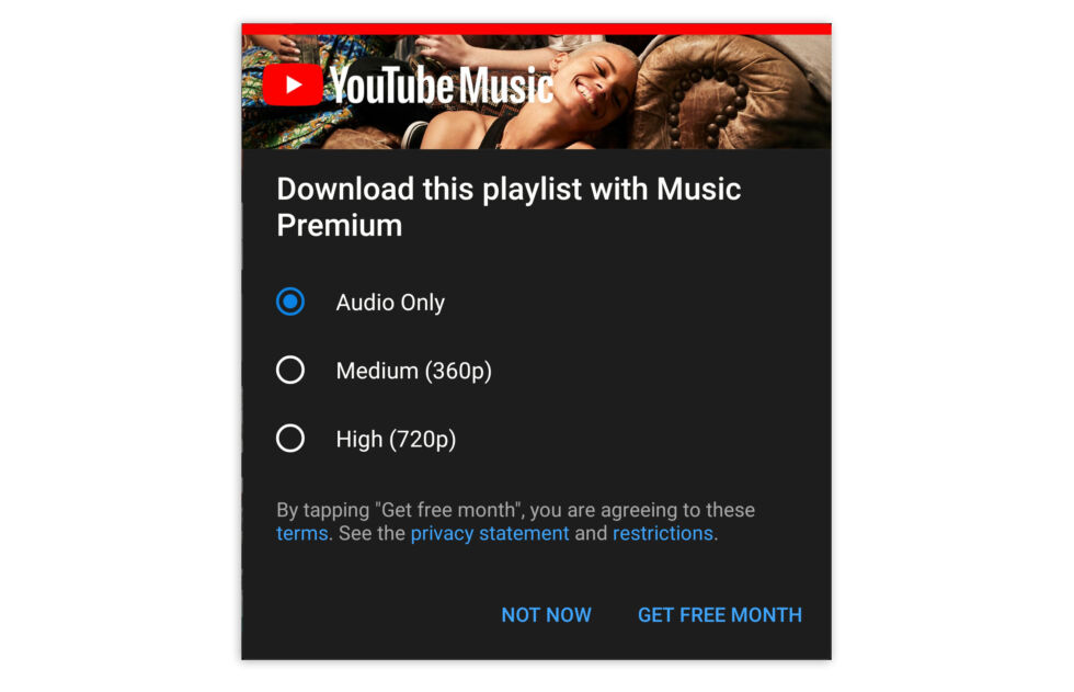 Pay money to download the songs you uploaded to us! I am not sure why there is a video option, I guess one or two videos sneaked into this playlist?