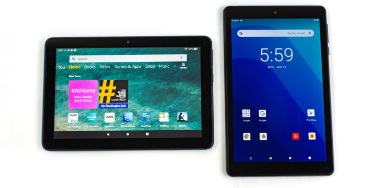 The ~$100 tablet shootout—Amazon Fire 8 HD Plus vs. Walmart Onn 8 Tablet Pro