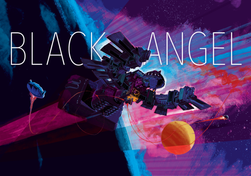 Promotional image for board game Black Angel.