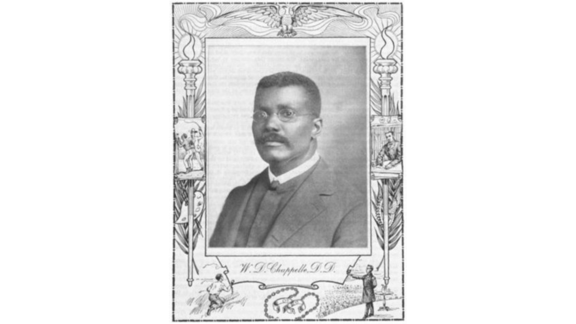 Bishop William David Chappelle, Dave's great grandfather, who lead a black delegation to Woodrow Wilson's White House.