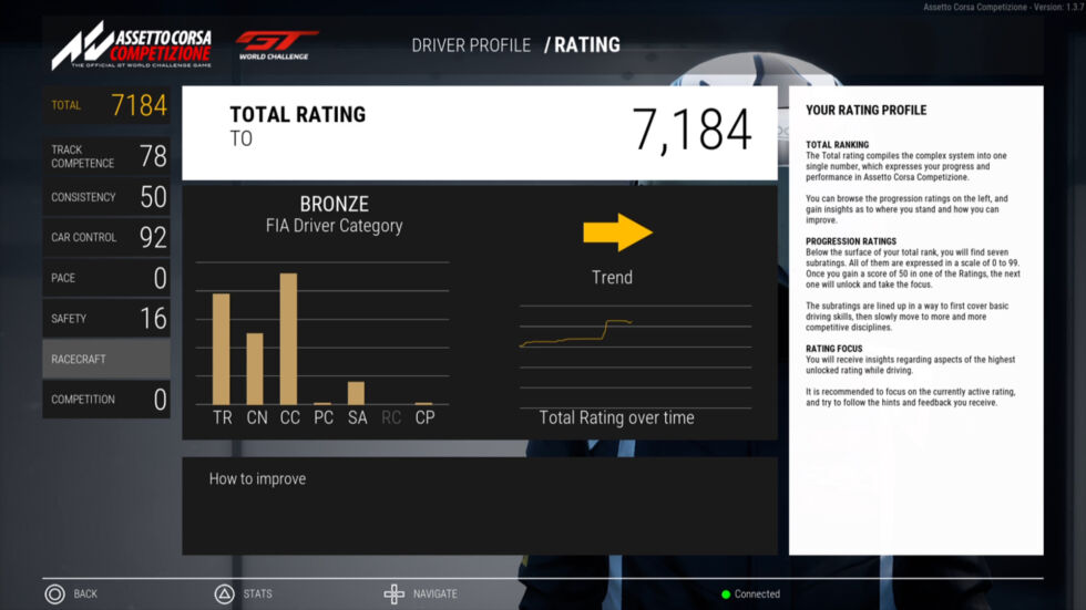 This is what your driver-rating screen looks like.