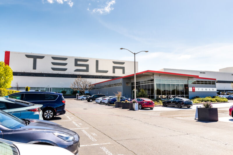 Tesla's main US factory in Fremont, California.