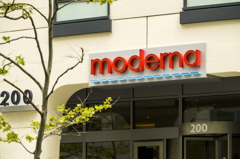 Moderna Inc. headquarters in Cambridge, Massachusetts.