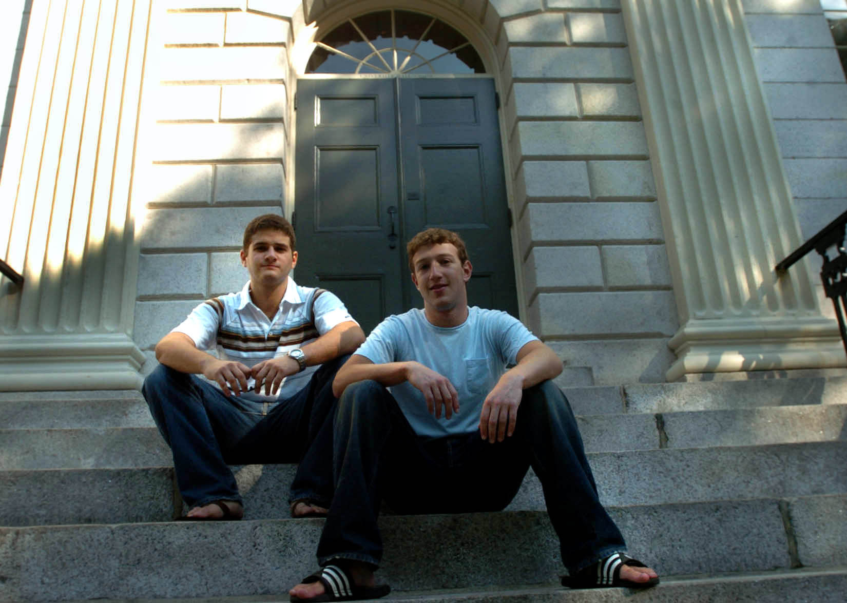 Facebook co-founders Dustin Moskovitz and Mark Zuckerberg. Section 230 made it possible for a handful of college kids to build Facebook.
