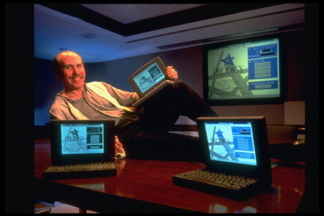 Scott Kurnit, vice president of Prodigy, at the company's headquarters in White Plains, New York, in 1994.