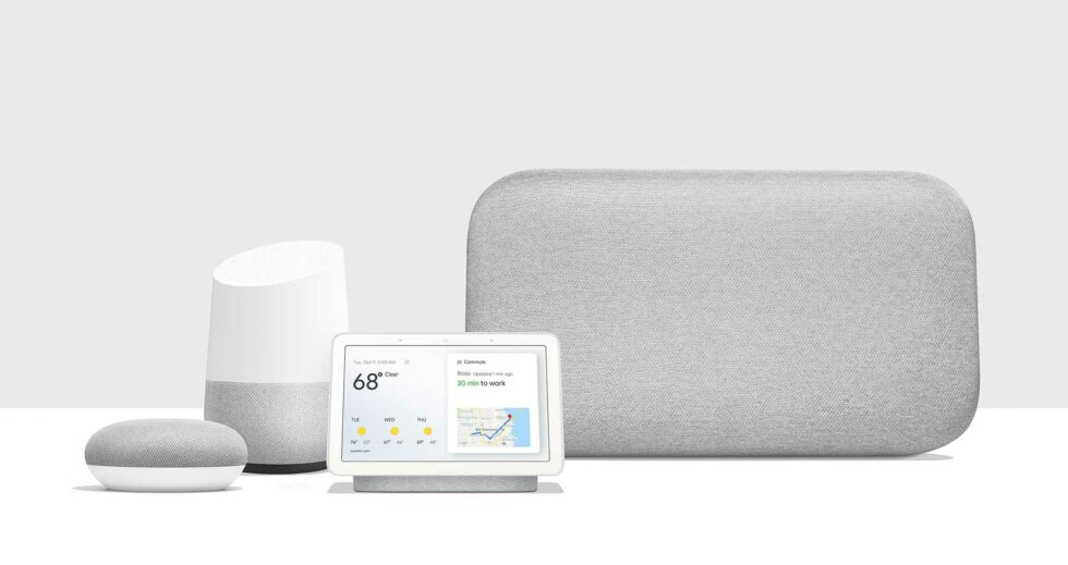The Google Home / Google Nest family of speakers. You need a to pay a monthly fee to use them with YouTube Music.