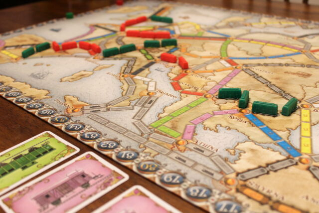 <em>Ticket to Ride: Europe</em> is one of our favorite family-friendly board games.