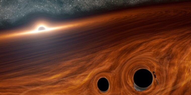Astronomers think this black hole collision may have exploded with light thumbnail