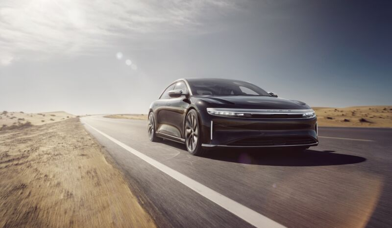 A Lucid Air prototype