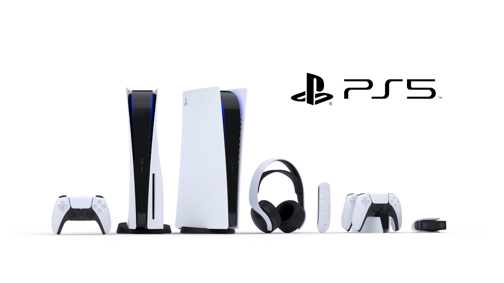 The entire PS5 hardware library, as revealed by Sony.