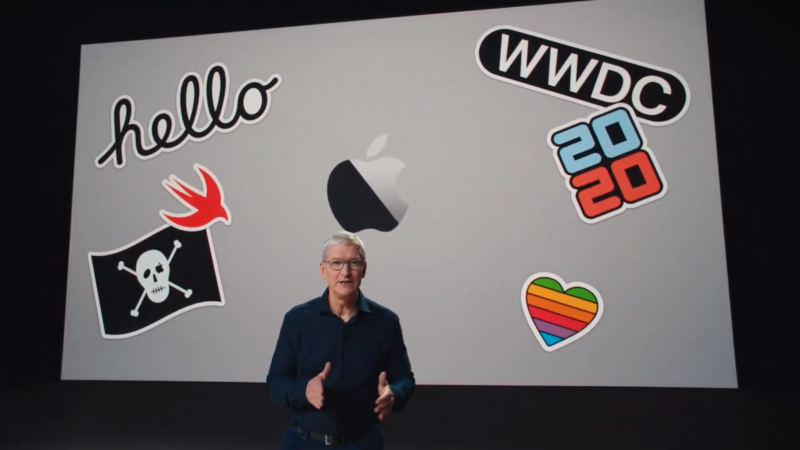 Apple CEO Tim Cook starts the WWDC 2020 keynote.