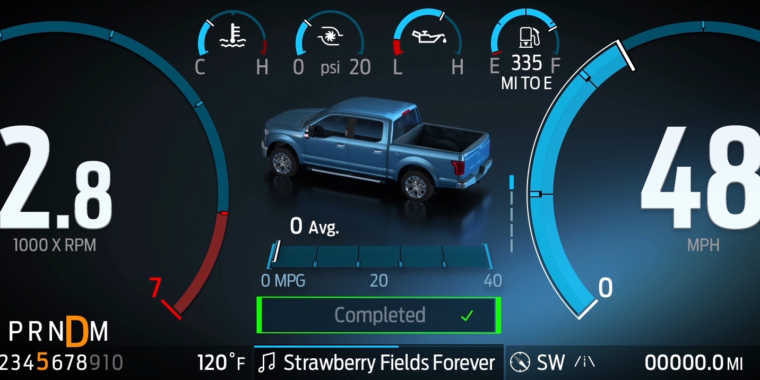 This is what the brand new Ford F-150 show and infotainment appears like - Ars Technica thumbnail