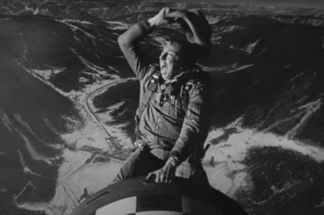 Slim Pickens rides a nuclear warhead in <em>Dr. Strangelove</em>