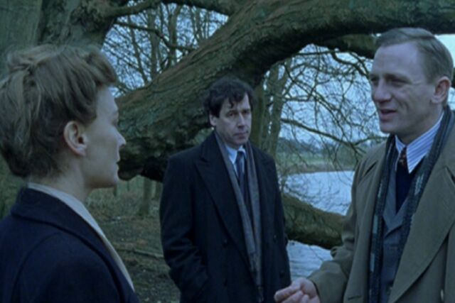 Stephen Rea and Daniel Craig star as Niels Bohr and Werner Heisenberg, respectively, in the BBC adaptation of Michael Frayn's award-winning play, <em>Copenhagen</em>.