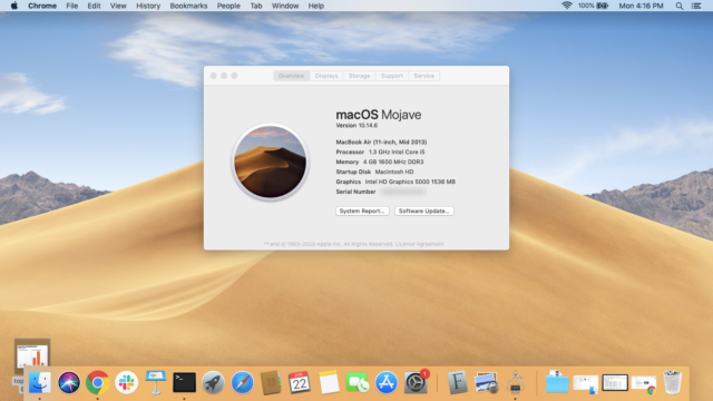 From the global top menu bar, Apple->About will give you your Mac's model information.