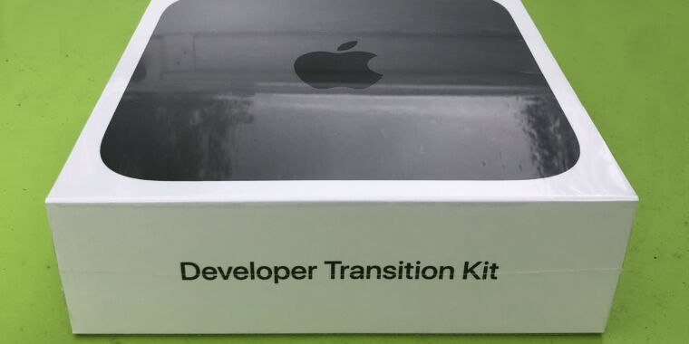Image of article 'Developers leak benchmarks from the Apple silicon Mac transition kit'