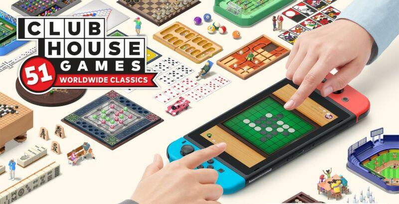 Clubhouse Games screen shot: Title screen
