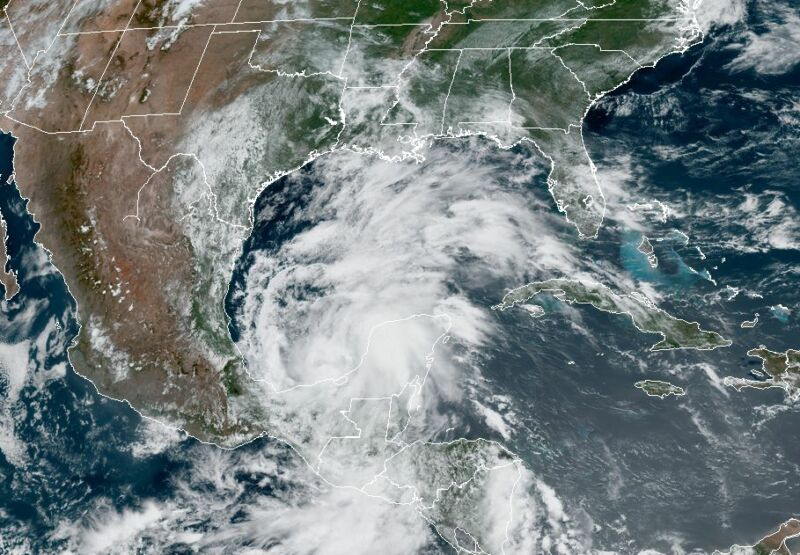 Tropical Storm Cristobal formed in the Southern Gulf of Mexico on Tuesday.