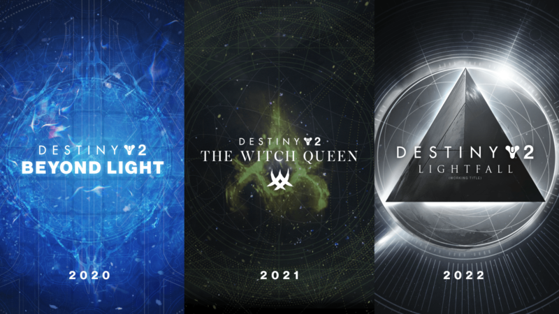 Promotional images for Destiny expansions.