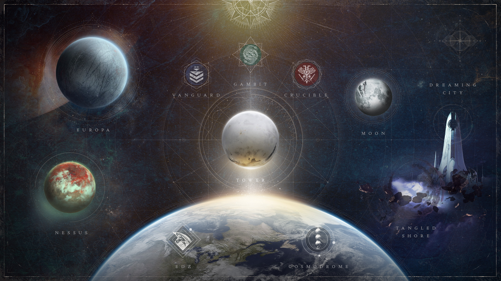 Driving today's point home, Bungie released this preview of the future <em>Destiny 2</em> map, complete with older destinations being deleted entirely.