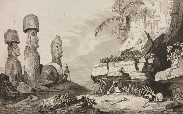 Monuments of Easter Island, 1836.