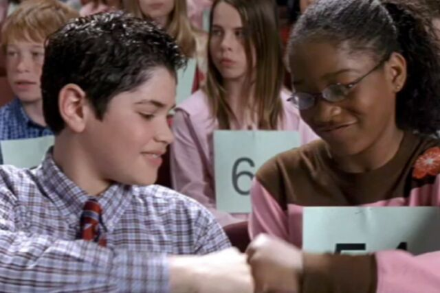 A young girl (Keke Palmer) aspires to win the Scripps National Spelling Bee in <em>Akeelah and the Bee.</em>
