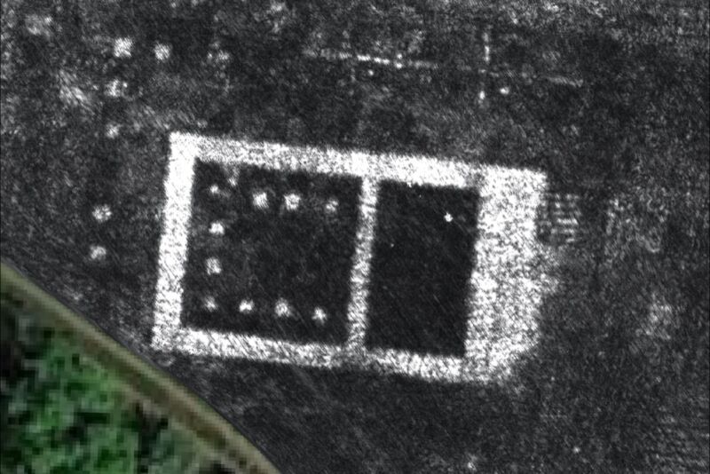 Ground penetrating radar map of the temple in the Roman city of Falerii Novi, Italy.