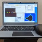 """Haiku also doesn't recognize the EVOO's touchpad, or its """"internal"""" USB Wi-Fi. All USB ports are occupied, and ifconfig shows only the loopback interface."""