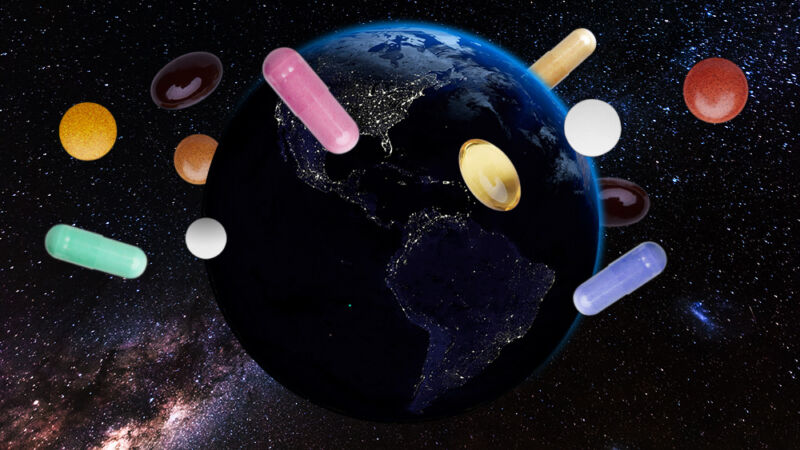 Vicodin, ketamine, and caffeine: The ingredients of a good space pharmacy