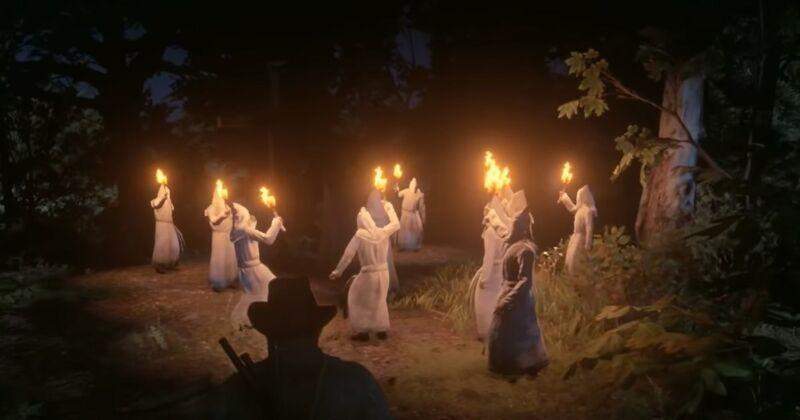 Hackers had been spawning these character models from the single player version of <em>Red Dead Redemption 2</em> in the multiplayer Red Dead Online.
