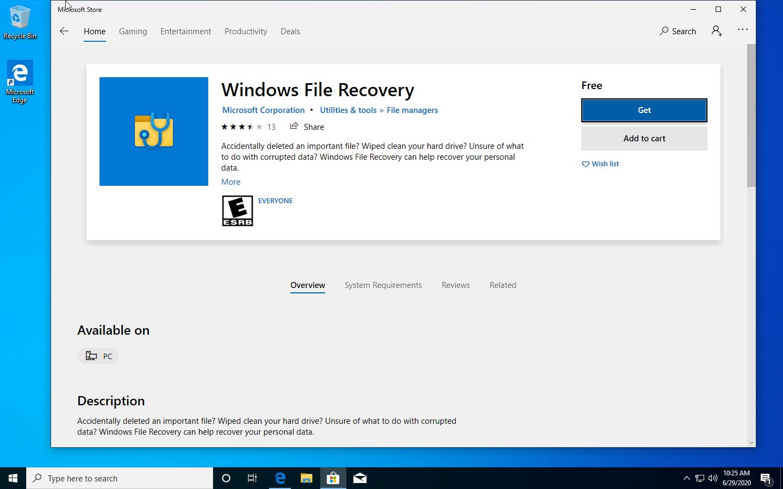 , Microsoft føjer værktøjet til udtjening af WINFR-filer til Microsoft Store