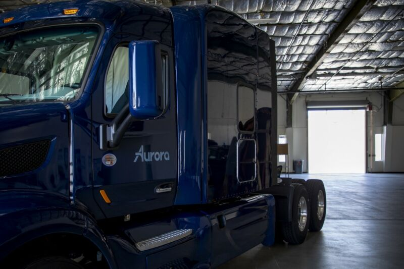Aurora said Monday that it would focus on testing self-driving trucks in the Dallas area.