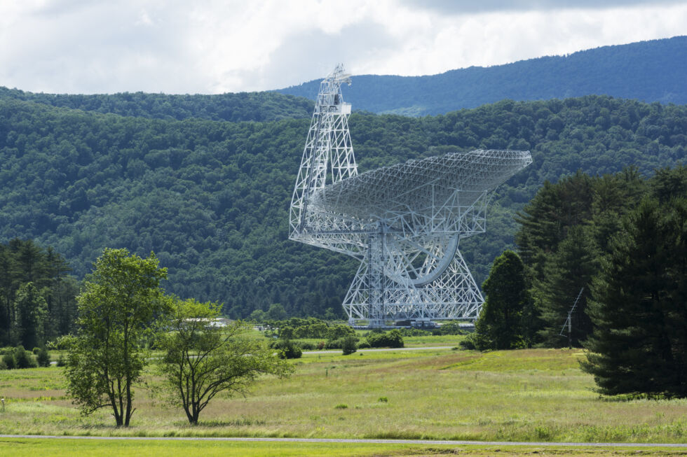 The National Radio Astronomy Observatory in West Virginia, where some of the SETI work was performed.