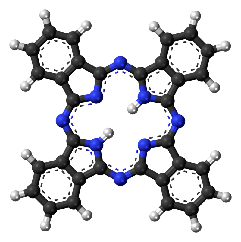 Diagram of a large, roughly square molecule.
