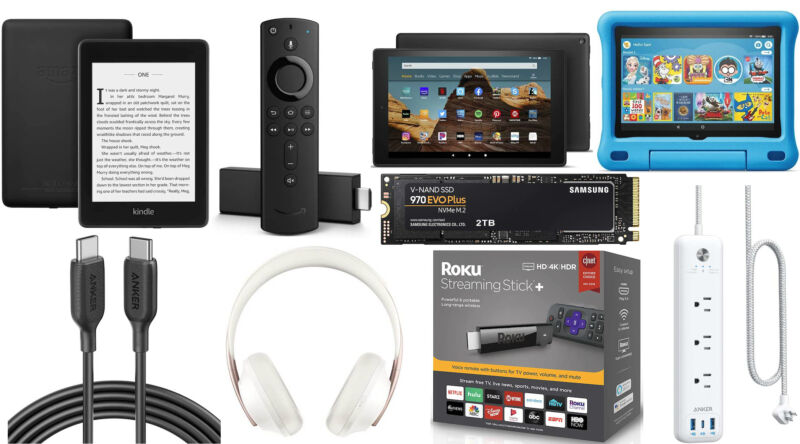 A bunch of Amazon Fire TV, Kindle, and Fire tablet devices are on sale today