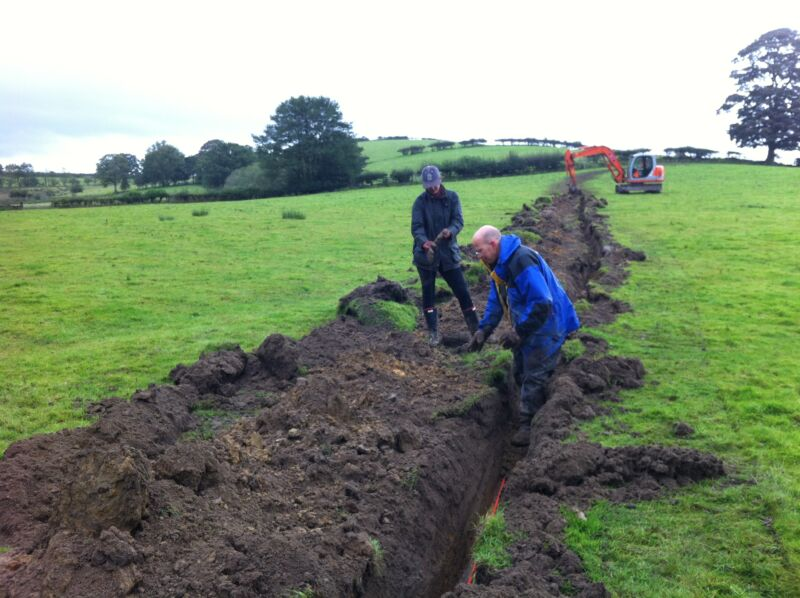 Laying some cable in rural UK.